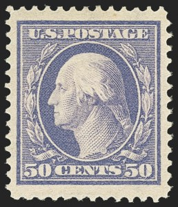 Sale Number 1162, Lot Number 454, 1908-10 Washington-Franklin Issues (Scott 331-356)50c Violet (341), 50c Violet (341)
