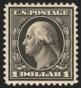 Sale Number 1162, Lot Number 455, 1908-10 Washington-Franklin Issues (Scott 331-356)$1.00 Violet Brown (342), $1.00 Violet Brown (342)