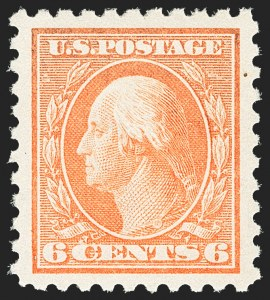 Sale Number 1162, Lot Number 500, 1912-15 Washington-Franklin Issues (Scott 405-461)6c Red Orange (429), 6c Red Orange (429)