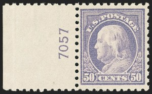 Sale Number 1162, Lot Number 501, 1912-15 Washington-Franklin Issues (Scott 405-461)50c Violet (440), 50c Violet (440)