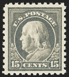 Sale Number 1162, Lot Number 527, 1916-17 Issues (Scott 462-480)15c Gray (475), 15c Gray (475)