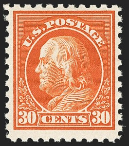 Sale Number 1162, Lot Number 528, 1916-17 Issues (Scott 462-480)30c Orange Red, Perf 10 (476A), 30c Orange Red, Perf 10 (476A)