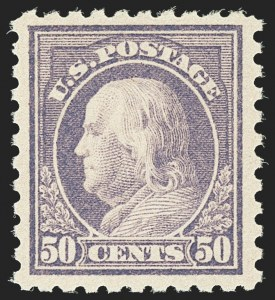 Sale Number 1162, Lot Number 529, 1916-17 Issues (Scott 462-480)50c Light Violet (477), 50c Light Violet (477)