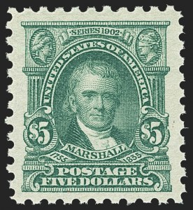Sale Number 1162, Lot Number 534, 1916-17 Issues (Scott 462-480)$5.00 Light Green (480), $5.00 Light Green (480)
