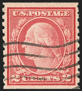 Sale Number 1162, Lot Number 537, 1917-19 Issues (Scott 481-524)2c Carmine, Ty. II, Coil (491), 2c Carmine, Ty. II, Coil (491)