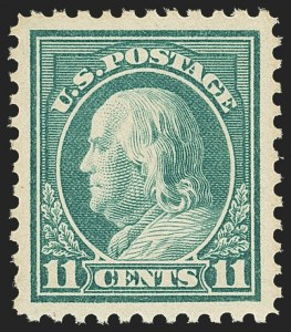 Sale Number 1162, Lot Number 543, 1917-19 Issues (Scott 481-524)11c Light Green (511), 11c Light Green (511)