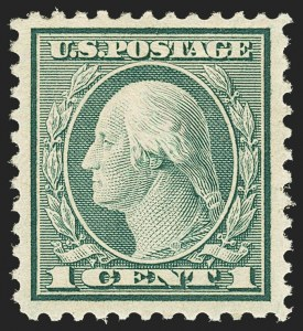 Sale Number 1162, Lot Number 575, 1918-20 Issues (Scott 525-550)1c Green, Rotary (545), 1c Green, Rotary (545)