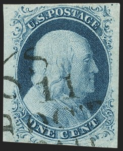 Sale Number 1162, Lot Number 59, 1851-56 Issue (Scott 5-17)1c Blue, Ty. IV (9), 1c Blue, Ty. IV (9)