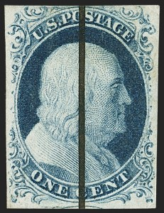 Sale Number 1162, Lot Number 60, 1851-56 Issue (Scott 5-17)1c Blue, Ty. IV (9), 1c Blue, Ty. IV (9)