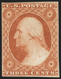Sale Number 1162, Lot Number 61, 1851-56 Issue (Scott 5-17)3c Orange Brown, Ty. II (10A), 3c Orange Brown, Ty. II (10A)