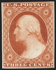 Sale Number 1162, Lot Number 62, 1851-56 Issue (Scott 5-17)3c Orange Brown, Ty. II (10A), 3c Orange Brown, Ty. II (10A)