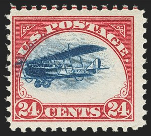 Sale Number 1162, Lot Number 620, Air Post (C)24c Carmine Rose & Blue, 1918 Air Post, Fast Plane Variety (C3 var), 24c Carmine Rose & Blue, 1918 Air Post, Fast Plane Variety (C3 var)