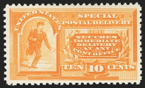 Sale Number 1162, Lot Number 659, Special Delivery, Registration (E, F)10c Orange, Special Delivery (E3), 10c Orange, Special Delivery (E3)