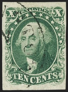 Sale Number 1162, Lot Number 67, 1851-56 Issue (Scott 5-17)10c Green, Ty. I (13), 10c Green, Ty. I (13)