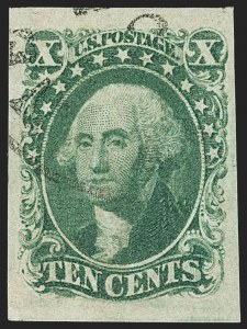 Sale Number 1162, Lot Number 68, 1851-56 Issue (Scott 5-17)10c Green, Ty. II (14), 10c Green, Ty. II (14)