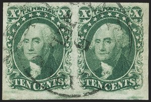 Sale Number 1162, Lot Number 69, 1851-56 Issue (Scott 5-17)10c Green, Ty. II (14), 10c Green, Ty. II (14)
