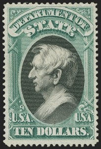 Sale Number 1162, Lot Number 700, Officials (O)$10.00 State (O70), $10.00 State (O70)