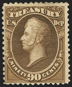 Sale Number 1162, Lot Number 707, Officials (O)90c Treasury, Soft Paper (O113), 90c Treasury, Soft Paper (O113)
