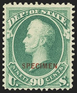 Sale Number 1162, Lot Number 716, Official Special Printings (O)1c-90c State, Specimen Ovpt. (O57S-O67S), 1c-90c State, Specimen Ovpt. (O57S-O67S)