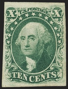 Sale Number 1162, Lot Number 72, 1851-56 Issue (Scott 5-17)10c Green, Ty. III (15), 10c Green, Ty. III (15)