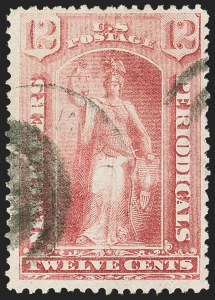 Sale Number 1162, Lot Number 725, Newspapers and Periodicals (PR)12c Rose, 1875 Issue (PR16), 12c Rose, 1875 Issue (PR16)