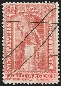 Sale Number 1162, Lot Number 726, Newspapers and Periodicals (PR)84c Rose, 1875 Issue (PR22), 84c Rose, 1875 Issue (PR22)