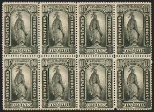 Sale Number 1162, Lot Number 732, Newspapers and Periodicals (PR)10c Black, 1879 Issue (PR62). Mint N.H, 10c Black, 1879 Issue (PR62). Mint N.H