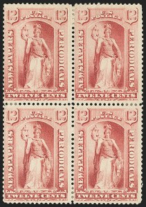 Sale Number 1162, Lot Number 733, Newspapers and Periodicals (PR)12c Red, 1879 Issue (PR63), 12c Red, 1879 Issue (PR63)