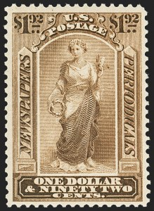 Sale Number 1162, Lot Number 734, Newspapers and Periodicals (PR)$1.92 Pale Brown, 1879 Issue (PR71), $1.92 Pale Brown, 1879 Issue (PR71)