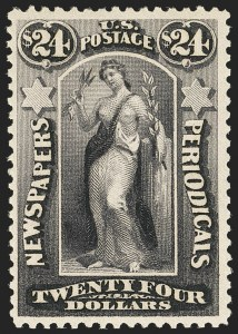 Sale Number 1162, Lot Number 736, Newspapers and Periodicals (PR)$24.00 Dark Violet, 1879 Issue (PR76). Mint N.H, $24.00 Dark Violet, 1879 Issue (PR76). Mint N.H