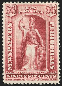 Sale Number 1162, Lot Number 740, Newspapers and Periodicals (PR)96c Carmine, 1885 Issue (PR89), 96c Carmine, 1885 Issue (PR89)