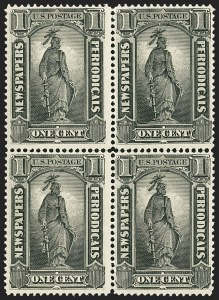 Sale Number 1162, Lot Number 743, Newspapers and Periodicals (PR)1c Intense Black, 1894 Issue (PR90), 1c Intense Black, 1894 Issue (PR90)