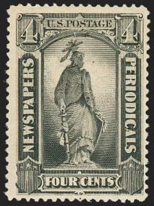 Sale Number 1162, Lot Number 745, Newspapers and Periodicals (PR)4c Intense Black, 1894 Issue (PR92), 4c Intense Black, 1894 Issue (PR92)