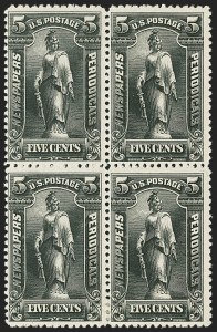 Sale Number 1162, Lot Number 749, Newspapers and Periodicals (PR)5c Black, 1895 Unwatermarked Issue (PR104), 5c Black, 1895 Unwatermarked Issue (PR104)