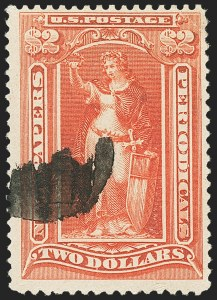 Sale Number 1162, Lot Number 750, Newspapers and Periodicals (PR)$2.00 Scarlet, 1895 Unwatermarked Issue (PR108), $2.00 Scarlet, 1895 Unwatermarked Issue (PR108)