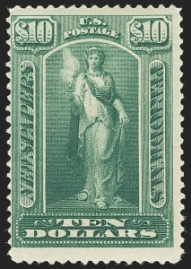 Sale Number 1162, Lot Number 751, Newspapers and Periodicals (PR)$10.00 Green, 1895 Unwatermarked Issue (PR110), $10.00 Green, 1895 Unwatermarked Issue (PR110)