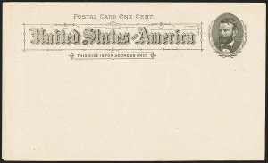 Sale Number 1162, Lot Number 776, Postal Stationery (U, UX)1c Black on Buff, 1891 Postal Card, Proofs Balance (UX10P, UX10PSb), 1c Black on Buff, 1891 Postal Card, Proofs Balance (UX10P, UX10PSb)