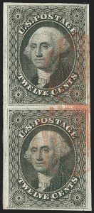 Sale Number 1162, Lot Number 80, 1851-56 Issue (Scott 5-17)12c Black (17), 12c Black (17)
