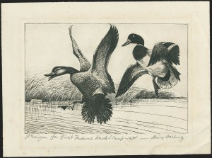 Sale Number 1162, Lot Number 810, Hunting PermitsMallards Dropping In (RW1), Mallards Dropping In (RW1)