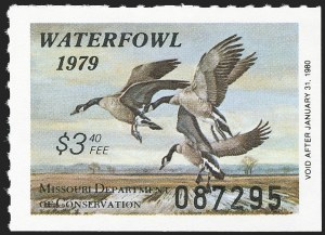 Sale Number 1162, Lot Number 817, Hunting PermitsMissouri, 1979, $3.40 Canada Geese (MO1), Missouri, 1979, $3.40 Canada Geese (MO1)