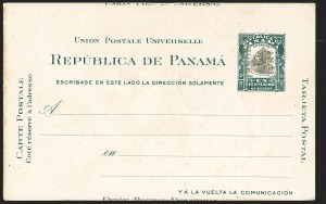 Sale Number 1162, Lot Number 869, U.S. Possessions - Canal Zone Postal Cards and Postal Stationery1908, 1c Green & Black, Postal Card, Ty. 2, Double Ovpt. (UX2a; UPSS S4c), 1908, 1c Green & Black, Postal Card, Ty. 2, Double Ovpt. (UX2a; UPSS S4c)