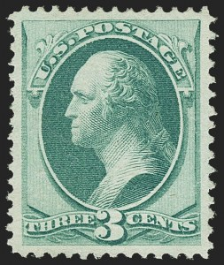 Sale Number 1163, Lot Number 108, 1870-71 National Bank Note Co. H. and I. Grilled Issue (Scott 134-144)3c Green, I. Grill (136A), 3c Green, I. Grill (136A)