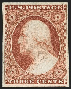 Sale Number 1163, Lot Number 11, 1851-56 Issue (Scott 7-17)3c Brownish Carmine, Ty. I (11), 3c Brownish Carmine, Ty. I (11)