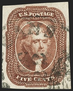 Sale Number 1163, Lot Number 13, 1851-56 Issue (Scott 7-17)5c Red Brown (12), 5c Red Brown (12)