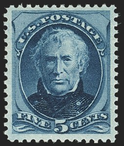 Sale Number 1163, Lot Number 132, 1873-75 Continental Bank Note Co. Issue (Scott 156-166, 178-179)5c Blue (179), 5c Blue (179)