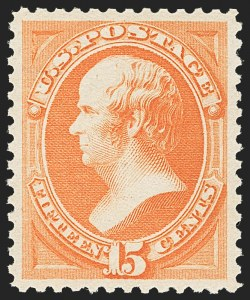 Sale Number 1163, Lot Number 140, 1879 American Bank Note Co. Issue (Scott 182-191)15c Red Orange (189), 15c Red Orange (189)