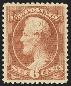 Sale Number 1163, Lot Number 147, 1881-83 American Bank Note Co. Issues (Scott 205-211B)6c Deep Brown Red (208a), 6c Deep Brown Red (208a)