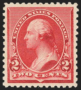 "Sale Number 1163, Lot Number 160, 1890-93 Issue (Scott 219-229)2c Carmine, Cap on Both ""2""s (220c), 2c Carmine, Cap on Both ""2""s (220c)"