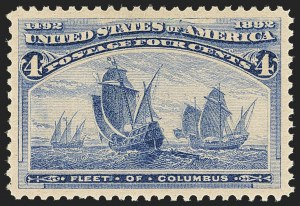 Sale Number 1163, Lot Number 170, 1893 Columbian Issue (Scott 230-245)4c Columbian (233), 4c Columbian (233)