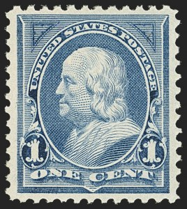 Sale Number 1163, Lot Number 183, 1894 Unwatermarked Bureau Issue (Scott 246-263)1c Blue (247), 1c Blue (247)